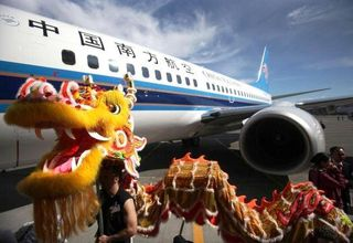 737 and dragon photo for 737 delivery on 4.13.2012