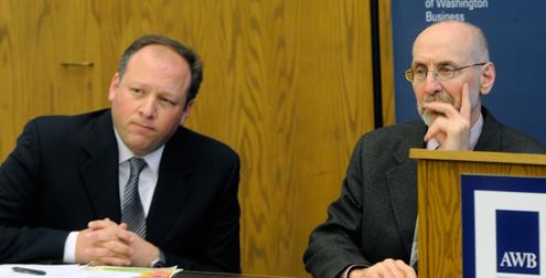 Sen. David Frockt (D-Seattle)(left) and Rep. Larry Springer (D-Kirkland)