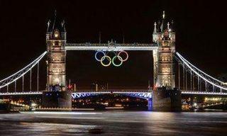 TOWER-BRIDGE Olympic Rings.July 27.2012