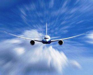 787 flying photo
